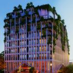 MAp design residential architecture architect kiran mathema apartment facade street dusk